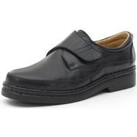 Chaussures Homme Derbies Calzamedi chaussures confortables avec velcro cousues à la m NOIR
