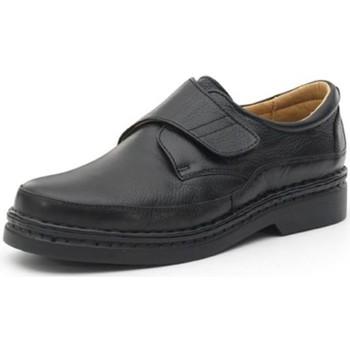 Chaussures Homme Derbies Calzamedi chaussures confortables avec cousues à la m NOIR