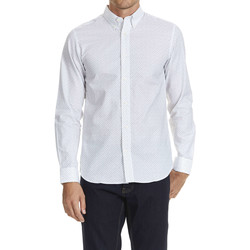 Chemises manches longues Selected Chemise Ml One Leth  Blanc