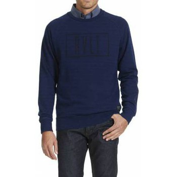 Vêtements Homme Sweats Rvlt Revolution Sweat Crew Neck Ml Raglan Dyed Print  Indigo Bleu