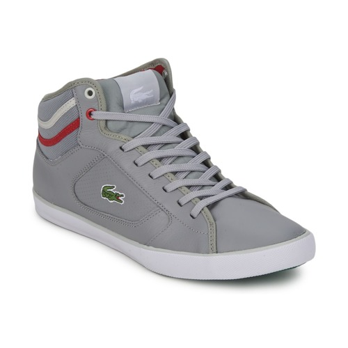 Chaussures Homme Baskets montantes Lacoste CAMOUS CRE GRY/RED