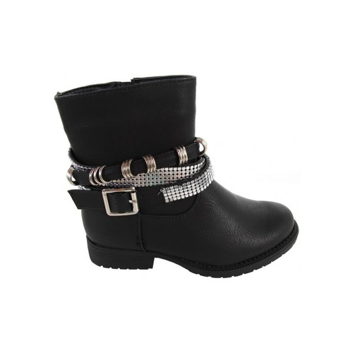 Chaussures Fille Bottines Top Way B080340-B4600 Negro