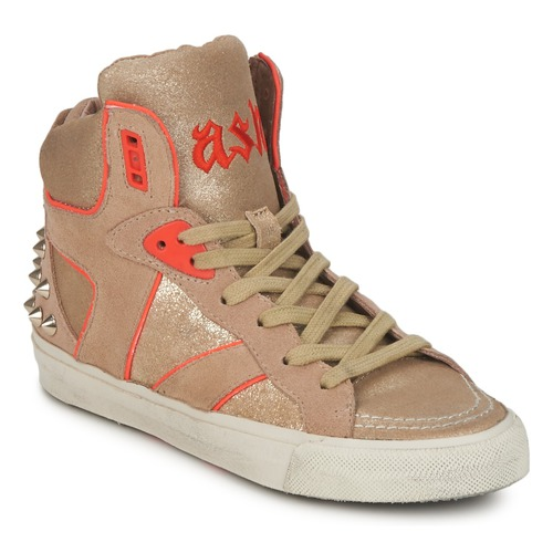 Ash Beige Montantes Baskets or Femme orange Spirit hCQdxsrt