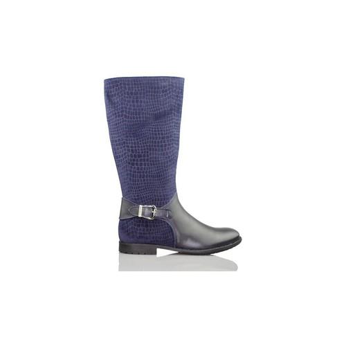 Chaussures Fille Boots Biomecanics Garvalin daim gravé fille de démarrage BLEU