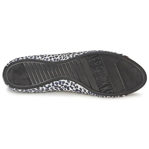 Bikkembergs Basar Blanc Femme BallerinesBabies 910 Noir Chaussures lFcK1J