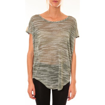 Vêtements Femme T-shirts manches courtes Dress Code Top à sequins R5523 vert Vert