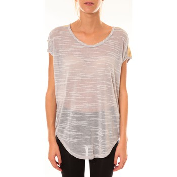 Vêtements Femme T-shirts manches courtes Dress Code Top à sequins R5523 gris Gris