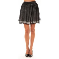 Vêtements Femme Jupes Coquelicot Jupe courte 15107/306 Anthracite Noir