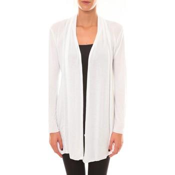 Vêtements Femme Gilets / Cardigans Vision De Reve Vision de Rêve Cardigan 8677 blanc Blanc