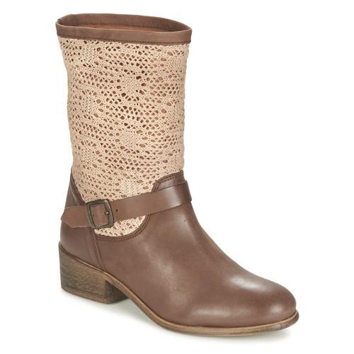 Chaussures Femme Boots Betty London CASTAGNO Marron