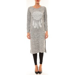 Robes longues By La Vitrine Robe Plume gris clair