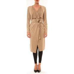 Vêtements Femme Gilets / Cardigans Carla Conti Cardigan asymétrique Nina beige Beige