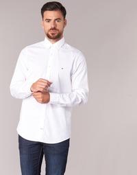 Vêtements Homme Chemises manches longues Tommy Hilfiger STRETCH POPLIN Blanc