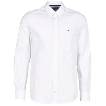 Chemises Tommy Hilfiger STRETCH POPLIN Blanc 350x350