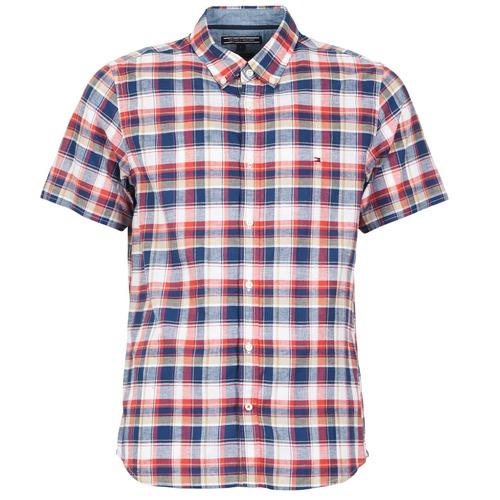 Vêtements Homme Chemises manches courtes Tommy Hilfiger FRENCH CHK Marine / Rouge