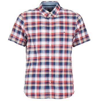 Chemises Tommy Hilfiger FRENCH CHK Marine / Rouge 350x350