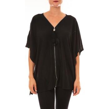 Vêtements Femme T-shirts manches courtes De Fil En Aiguille Cardigan MC1209 noir Noir