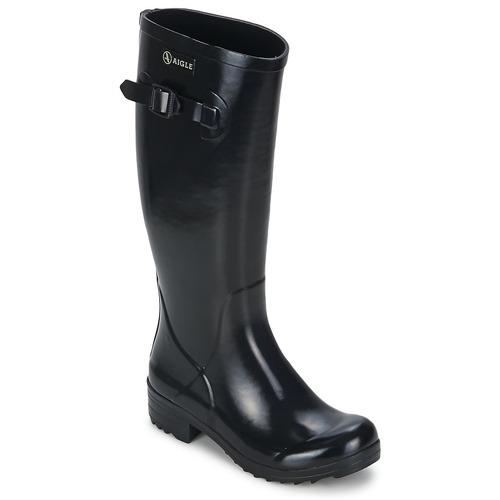 Chaussures Femme Bottes de pluie Aigle BRILLANTINE NOIR
