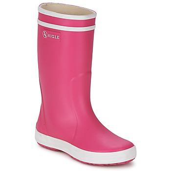 Chaussures Fille Bottes de pluie Aigle LOLLY-POP Rose / Blanc