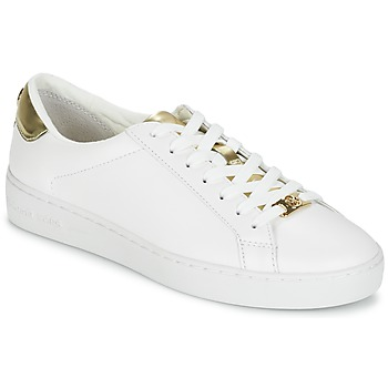 Chaussures Femme Baskets basses MICHAEL Michael Kors IRVING Blanc / Or