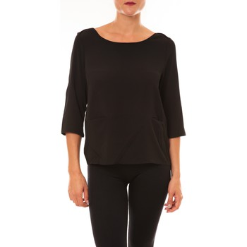 Vêtements Femme T-shirts manches longues Carla Conti Top K598 noir Noir