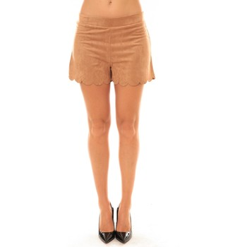 Vêtements Femme Shorts / Bermudas Carla Conti Short 57713 camel Marron