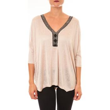 Vêtements Femme Tops / Blouses Carla Conti Top R5550 beige Beige