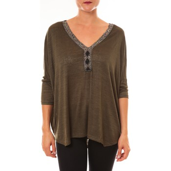 Vêtements Femme Tops / Blouses Carla Conti Top R5550 vert Vert