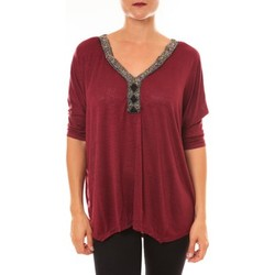 Vêtements Femme Tops / Blouses La Vitrine De La Mode By La Vitrine Top R5550 bordeaux Rouge
