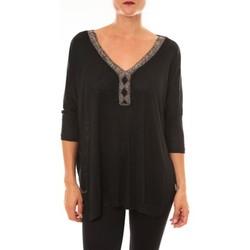 Vêtements Femme Tops / Blouses Carla Conti Top R5550 noir Noir