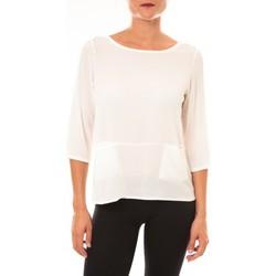 T-shirts manches longues Carla Conti Top K598 blanc