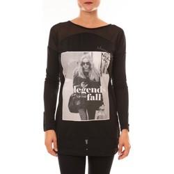 Vêtements Femme T-shirts manches longues Carla Conti Tee Shirt Manches Longues MC1919 noir Noir