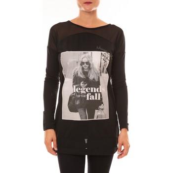 T-shirts manches longues Carla Conti Tee Shirt Manches Longues MC1919 noir