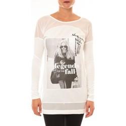 T-shirts manches longues Carla Conti Tee Shirt Macnhes Longues MC1919 blanc