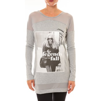 Pull La Vitrine De La Mode Tee Shirt Manches Longues Sweat MC1919 gris