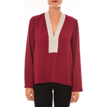 Vêtements Femme Tops / Blouses Carla Conti Blouse Z089 bordeaux Rouge