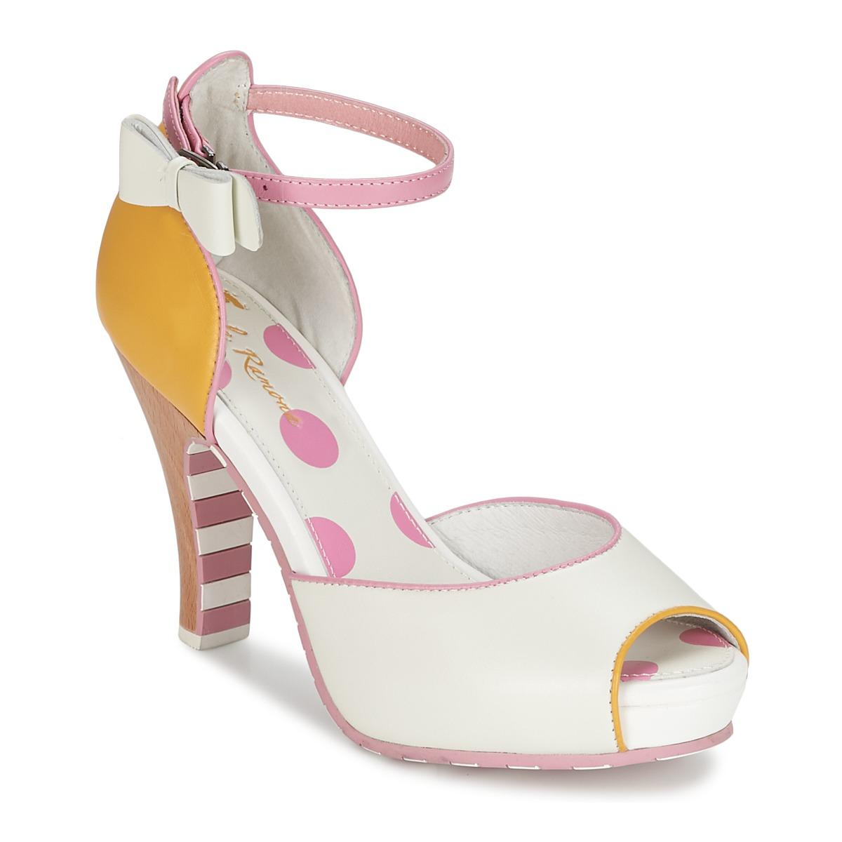 Sandale Lola Ramona ANGIE Rose / Blanc