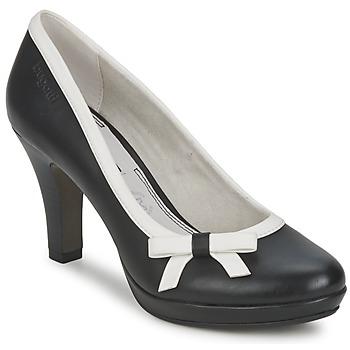 Chaussures Femme Escarpins Bugatti AZELINIA Noir / Blanc