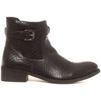 Chaussures Femme Boots Cassis Côte D'azur Bottines Hiro noir Noir