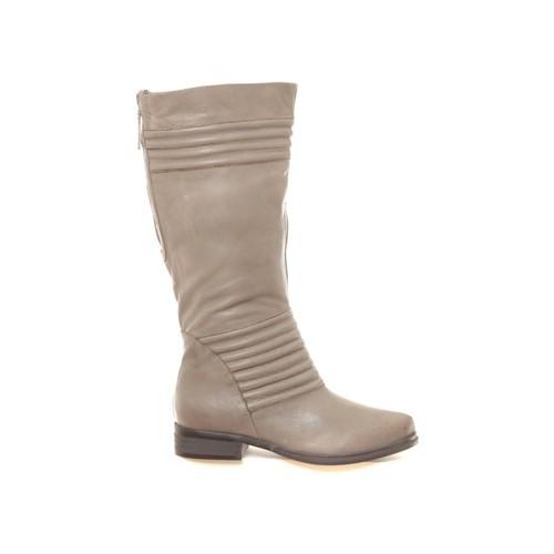 Chaussures Femme Bottes ville Ilario Ferucci Bottes en cuir Gaelane taupe Marron