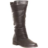 Chaussures Femme Bottes de pluie Cassis Côte D'azur Ilario Ferucci Bottes en cuir Gaelane noir Noir