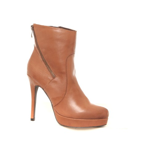 Chaussures Femme Bottines Ilario Ferucci Bottines en cuir Gicanda camel Marron