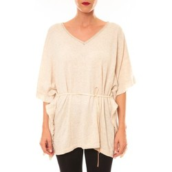 T-shirts manches courtes Carla Conti Pull MC3120 beige