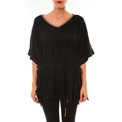 T-shirts manches courtes Carla Conti Pull MC3120 noir