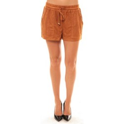 Vêtements Femme Shorts / Bermudas Carla Conti Short Y536 camel Marron