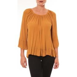 Vêtements Femme Tops / Blouses Carla Conti Blouse Giulia moutarde Jaune
