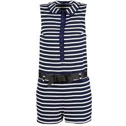 Vêtements Femme Combinaisons / Salopettes Petit Bateau FAITOUT Marine / Blanc