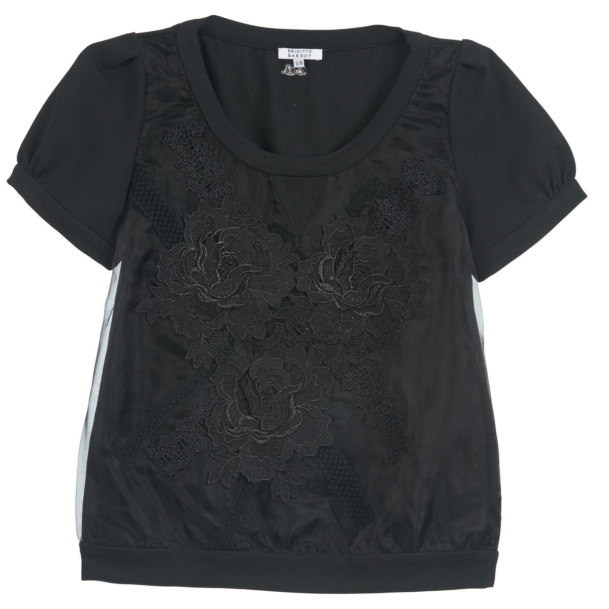brigitte bardot bb44160 noir livraison gratuite avec v tements blouses femme. Black Bedroom Furniture Sets. Home Design Ideas