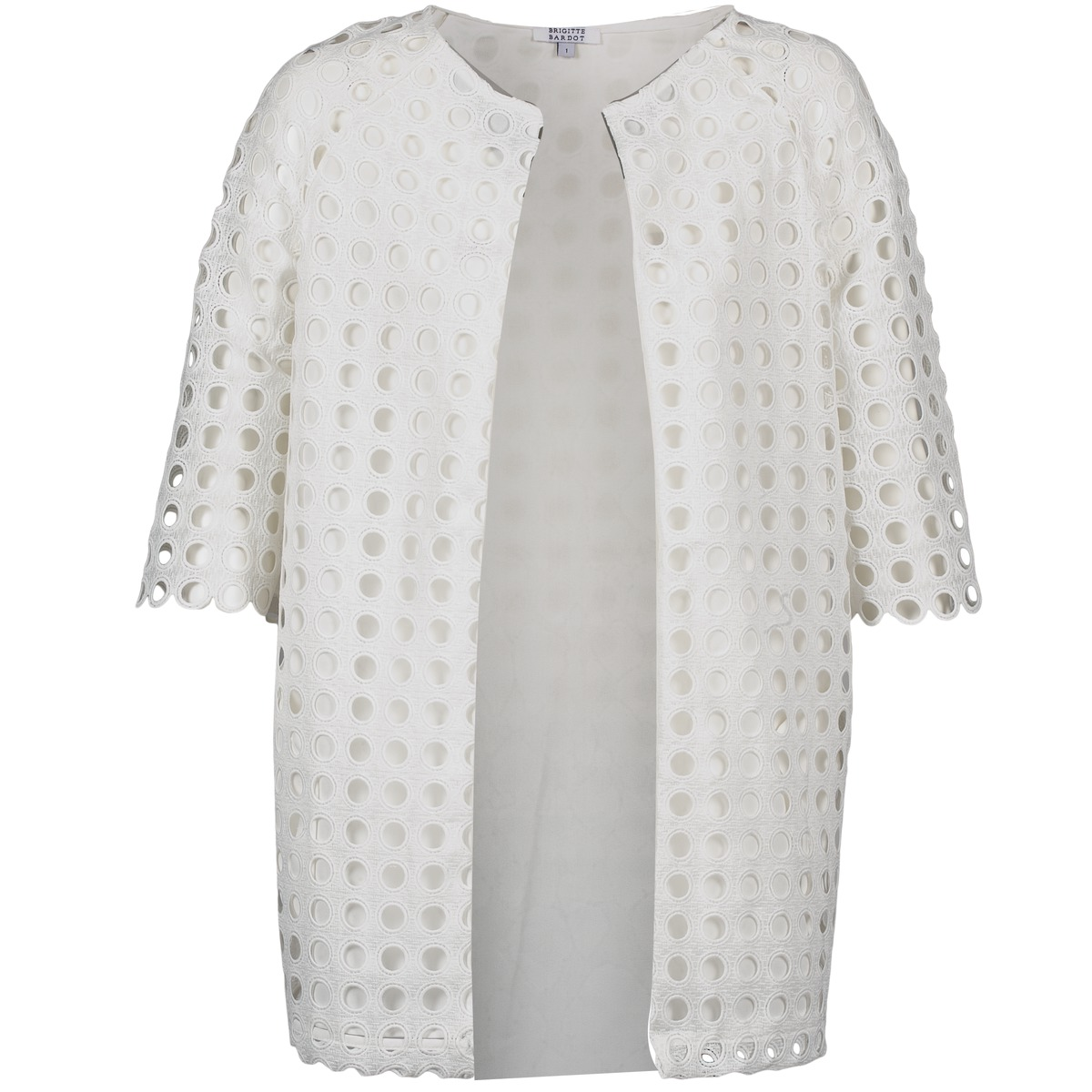 brigitte bardot bb44197 blanc livraison gratuite avec v tements manteaux femme. Black Bedroom Furniture Sets. Home Design Ideas