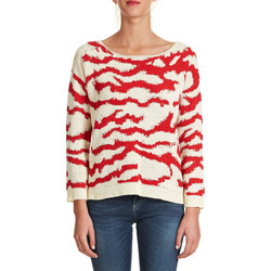 Vêtements Femme Pulls Color Block Pull  Ecru Rouge Ecru